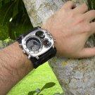 Rockstar Climber Hunter  wristband cuff bracelet Men`s Watch Steam punk compass