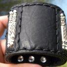 Men`s Buffalo leather signed customize wrist Bracelet Cowboy Native Indian style