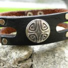 Customize your wrist Cuff  Bracelet American Bison Leather wristband