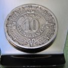 Vintage Aztec Calendar Mexican Coin 1946 Money clip Double side Stainles Steel
