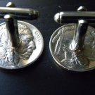 Handmade Cuff links cool Authentic Buffalo Indian Nickel coins handmade