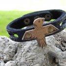 Indian Style Handmade Eagle cuff Wristband Bracelet Buffalo Bison leather,
