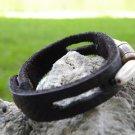 USA  Buffalo leather craft Bracelet wristband,  Indian Style Handmade signed