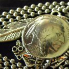 Handmade Necklace Vintage authentic Buffalo Indian Head  Nickel coin  Pendants