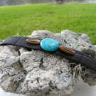 Genuine Bison Leather cuff snaps Bracelet  Indian Style Handmade Turquoise
