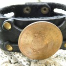 Aztec King coin Customize Handmade Bracelet Genuine Buffalo Leather wristband