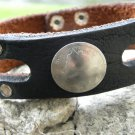 Handmade Bracelet Genuine US Bison leather Real 1899 Liberty Nickel coin