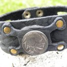 Indian style  signed wristband bracelet Customize your wrist  Buffalo Leather