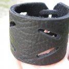 Bracelet Black Genuine Buffalo Leather wristband Handmade Adjustable Indian styl