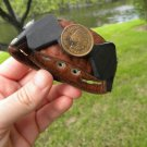 1902 Indian Head coin Buffalo leather cuff bracelet wristband Handmade mg