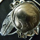 Handmade Vintage Real Buffalo Indian Head  Nickel coin Necklace Pendants