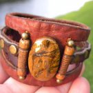 Original Bracelet Buffalo Leather N stone Customize handmade Indian style