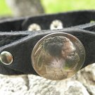 Customize Bracelet Real Buffalo Leather Buffalo Indian nickel coin Indian style