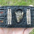 Bracelet  Buffalo Leather Buffalo Head bones customize adjustable Ketoh