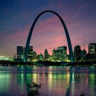 St Louis Missouri Night Skyline Around The World 16x12 POSTER