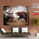 Assassin S Creed 3 Bear Game Art HUGE GIANT Print Poster