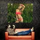 Hot Blonde Girl Sexy Model Bikini Huge 47x35 Print POSTER