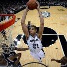 Tim Duncan Dunk San Antonio Spurs NBA 16x12 Print Poster