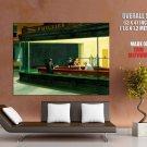 Edward Hopper Nighthawks Phillies Painting Fine Art Huge Giant Poster