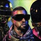 Daft Punk Kanye West Music Singer Pop Electronic 32x24 Print POSTER