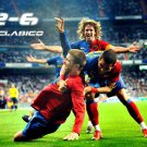 El Clasico 2 6 FC Barcelona Football 24x18 Print POSTER