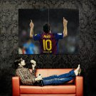 Barcelona Lionel Messi Football Huge 47x35 Print Poster