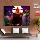 Hotline Miami Video Game Art Masks HUGE GIANT Print Poster