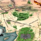 Map Of Beleriand Lord Rings Elven Realms 32x24 Print POSTER