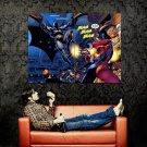 Batman Harley Quinn Comic Art Huge 47x35 Print Poster