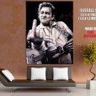 Johnny Cash Giving The Finger Art Bw Music Huge Giant Print Poster