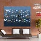 The Legend Of Zelda Swords Art Weapons HUGE GIANT Print Poster