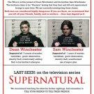 Supernatural Wanted TV Series 32x24 Print POSTER