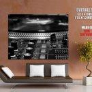 Djm 800 Mixing Desk Turntable Bw Art Huge Giant Print Poster