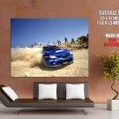 Subaru Impreza Wrc Drift Rally Dust Sport Huge Giant Print Poster
