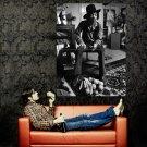 Jimi Hendrix BW Music Psychedelic Rock Huge 47x35 Print Poster