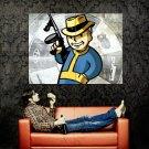 Vault Boy Mobster Tommy Gun Fallout Video Game Huge 47x35 Print POSTER