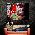 Miss Van Graffiti Barcelona Rabbit Girl Street Art Huge 47x35 Print POSTER