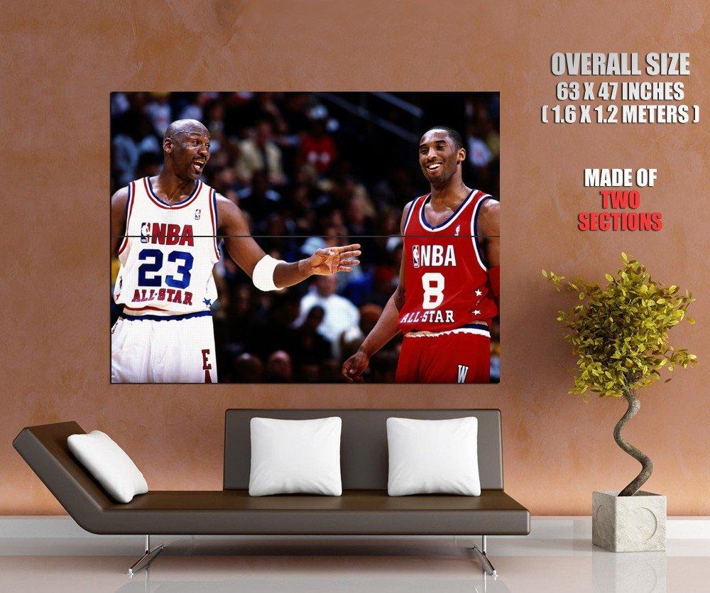 michael jordan kobe bryant nba sport huge giant print poster. Black Bedroom Furniture Sets. Home Design Ideas