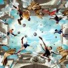 Football Superstars Soccer Zidane Messi Raul Ballack Kaka 24x18 Print POSTER