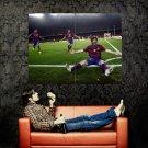 Lionel Messi Barcelona Football Sport Huge 47x35 Print POSTER