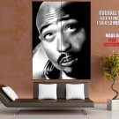 2 Pac Tupac Amaru Shakur Hip Hop Legend Art Bw Music Huge Giant Print Poster