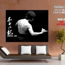 Bruce Lee Kung Fu Actor Bw Huge Giant Print Poster