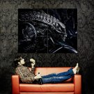 Alien Head H R Giger Abstract Art Huge 47x35 Print POSTER