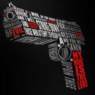 EZEKIEL 25 17 Desert Eagle Handgun Weapon 32x24 Print POSTER