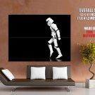 Stormtrooper Moonwalk Star Wars Sci Fi Huge Giant Print Poster