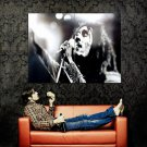 Bob Marley Singing Black White Huge 47x35 Print Poster