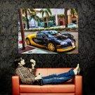Bugatti Supercar Black Huge 47x35 Print Poster