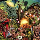Deadpool Epic Battle Dinosaur Marvel Comics Art 16x12 Print POSTER