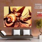 Captain America Vintage Cool Art Style Huge Giant Print Poster