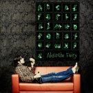 Absinthe Fairy Green Alphabet Art Huge 47x35 Print Poster